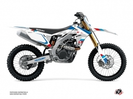 Kit Déco Moto Cross Label Suzuki 250 RMZ Blanc