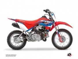 Honda 110F CRF Dirt Bike League Graphic Kit Red