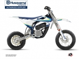 Husqvarna EE-5 Dirt Bike Legacy Graphic Kit Blue Yellow