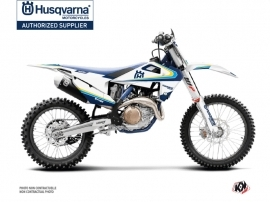 Husqvarna 450 FE Dirt Bike Legacy Graphic Kit Blue Yellow