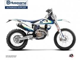 Husqvarna 250 TE Dirt Bike Legacy Graphic Kit Blue Yellow