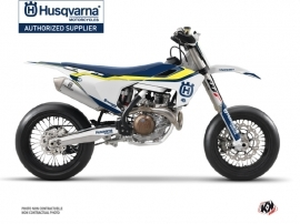 Husqvarna 450 FS Dirt Bike Legend Graphic Kit Blue