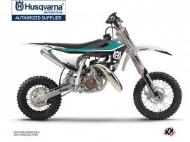 Husqvarna TC 50 Dirt Bike Legend Graphic Kit Turquoise