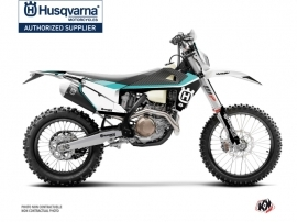 Husqvarna 250 TE Dirt Bike Legend Graphic Kit Turquoise