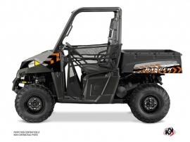 Polaris Ranger EV UTV Lifter Graphic Kit Orange