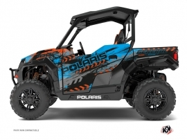 Polaris GENERAL 1000 UTV Lifter Graphic Kit Orange Blue