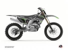 Kit Déco Moto Cross Live Kawasaki 450 KXF Gris