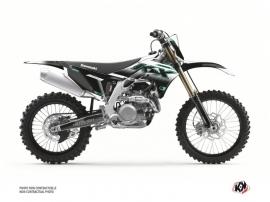 Kawasaki 450 KXF Dirt Bike Live Graphic Kit Turquoise