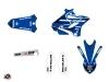 Yamaha 250 YZ Dirt Bike Basik Graphic Kit Blue LIGHT
