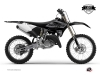 Yamaha 125 YZ Dirt Bike Black Matte Graphic Kit Black LIGHT