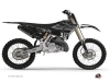 Kit Deco Dirt Bike Black Matte Yamaha 125 YZ RTECH Revolution Black