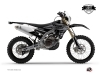 Yamaha 450 WRF Dirt Bike Black Matte Graphic Kit Black LIGHT