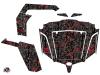 CF Moto Z Force 800 UTV Camo Graphic Kit Black Red