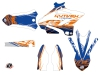 Kit Déco Moto Cross Eraser Yamaha 125 YZ Bleu Orange LIGHT