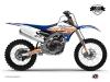 Yamaha 450 YZF Dirt Bike Eraser Graphic Kit Blue Orange LIGHT