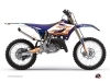 Kit graphique Moto Cross Eraser Yamaha 250 YZ Bleu Orange