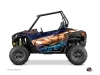 Graphic Kit Doors Low Dragonfire Eraser UTV Polaris RZR 900S/1000/Turbo 2015-2017 Blue Orange