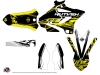 Yamaha 125 YZ Dirt Bike Eraser Fluo Graphic Kit Yellow LIGHT