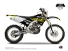 Kit graphique Moto Cross Eraser Fluo Yamaha 250 WRF Jaune LIGHT
