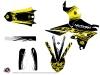Yamaha 250 WRF Dirt Bike Eraser Fluo Graphic Kit Yellow LIGHT