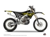 Yamaha 250 WRF Dirt Bike Eraser Fluo Graphic Kit Yellow