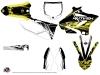 Yamaha 250 YZ Dirt Bike Eraser Fluo Graphic Kit Yellow