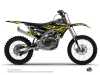 Yamaha 250 YZF Dirt Bike Eraser Fluo Graphic Kit Yellow