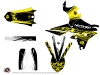 Yamaha 450 WRF Dirt Bike Eraser Fluo Graphic Kit Yellow LIGHT