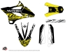 Kit Déco Moto Cross Eraser Fluo Yamaha 85 YZ Jaune LIGHT