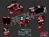 Yamaha 250 YZ Dirt Bike Freegun Graphic Kit Red