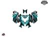 Skidoo REV XM Snowmobile Klimb Graphic Kit Cyan