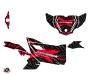 Can Am Maverick Sport With Doors UTV Kollector Graphic Kit Black red
