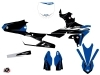 PACK Yamaha 450 YZF Dirt Bike Halftone Graphic Kit Black Blue + Plastics Kit 450 YZF Black from 2014