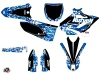 Yamaha 125 YZ Dirt Bike Predator Graphic Kit Blue
