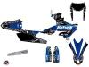Yamaha 250 WRF Dirt Bike Predator Graphic Kit Black Blue