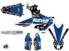 Kit graphique Moto Cross Predator Yamaha 250 YZF Noir Bleu LIGHT