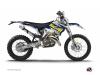 Husqvarna 300 TE Dirt Bike Predator Graphic Kit Purple Yellow