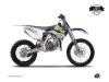Husqvarna TC 85 Dirt Bike Predator Graphic Kit Purple Yellow LIGHT