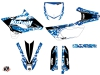 Yamaha 85 YZ Dirt Bike Predator Graphic Kit Blue