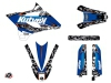 Yamaha 85 YZ Dirt Bike Predator Graphic Kit Black Blue LIGHT