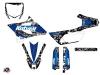 Yamaha 85 YZ Dirt Bike Predator Graphic Kit Black Blue