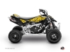 Can Am DS 650 ATV Predator Graphic Kit Black Yellow
