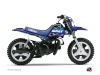 Yamaha PW 50 Dirt Bike Predator Graphic Kit Black Blue