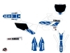 Yamaha 125 YZ Dirt Bike Replica Graphic Kit White Blue