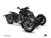 Can Am Ryker 600 900 Rally Edition Roadster Replica Graphic Kit Black Grey