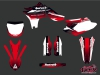 Yamaha 450 YZF Dirt Bike Slider Graphic Kit Red