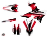 Kit graphique Moto Cross Stage Yamaha 250 WRF Noir Rouge LIGHT