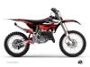 Yamaha 250 YZ Dirt Bike Stage Graphic Kit Black Red