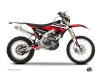 Yamaha 450 WRF Dirt Bike Stage Graphic Kit Black Red