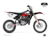 Yamaha 85 YZ Dirt Bike Stage Graphic Kit Black Red LIGHT